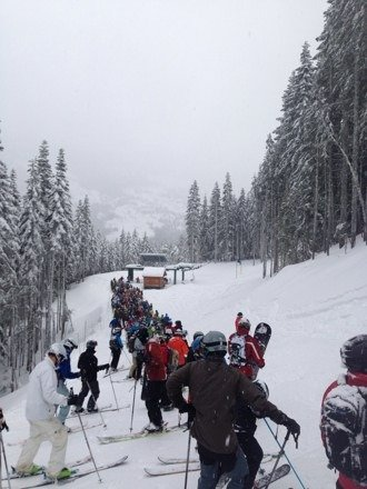 Lines at crystal were out of control.  Spent most of the day in line.  Northway lift line was an hour wait.  Stay away-this mountain is lacking operations and does not know how to handle capacity issues.  Last year for season pass.
