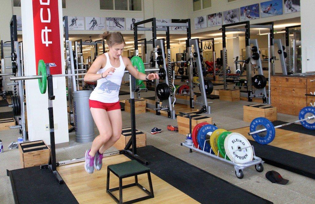 Heather McPhie Preseason Lateral Box Jumps