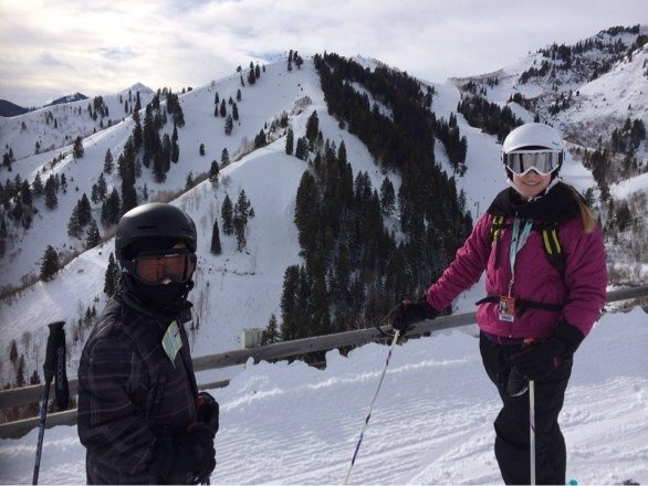 Picture of my kids at the top of Ray's lift on Saturday.  Great day on the mountain and no question the recent storm was a difference maker.  One more good storm and Sundance will be perfect.  Already looking forward to next weekend.