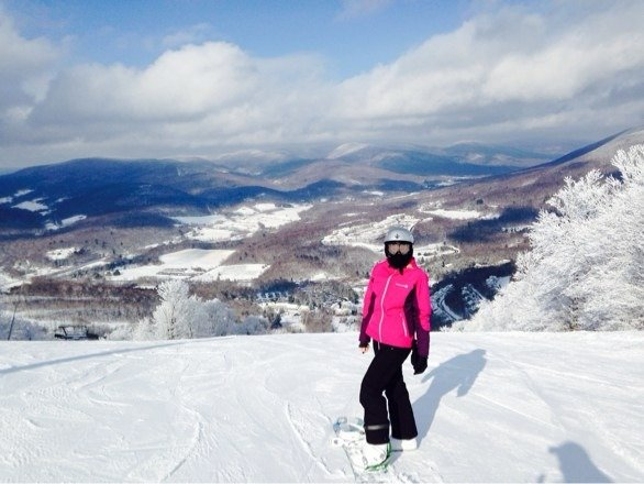 Beautiful weekend at Jiminy Peak, awesome trails weather was perfect!