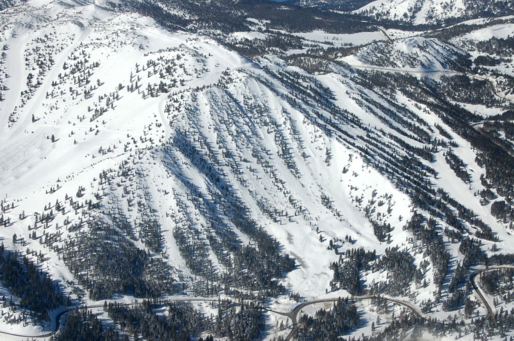 An aerial view of the chutes at Mt. Rose, Nevada