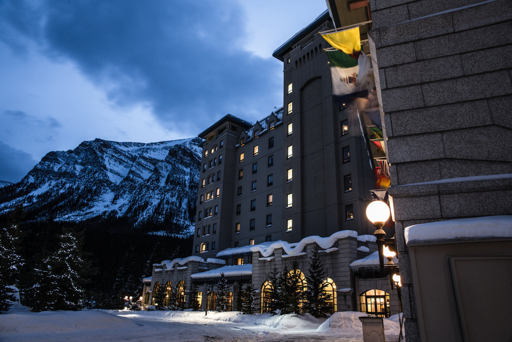 The stunning Fairmont Hotel at Lake Louise is pure elegance.  - ©Liam Doran