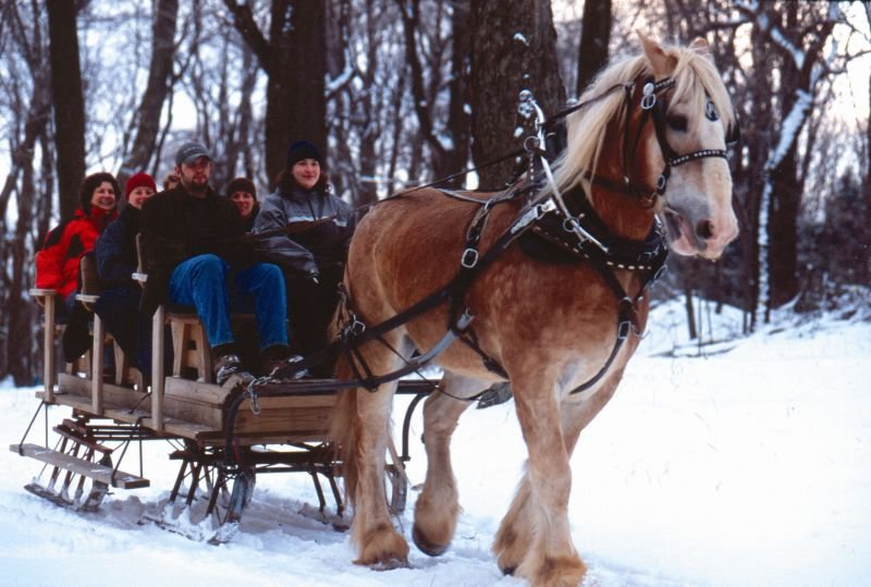 A sleigh ride in Silver Springs, Pennsylvania