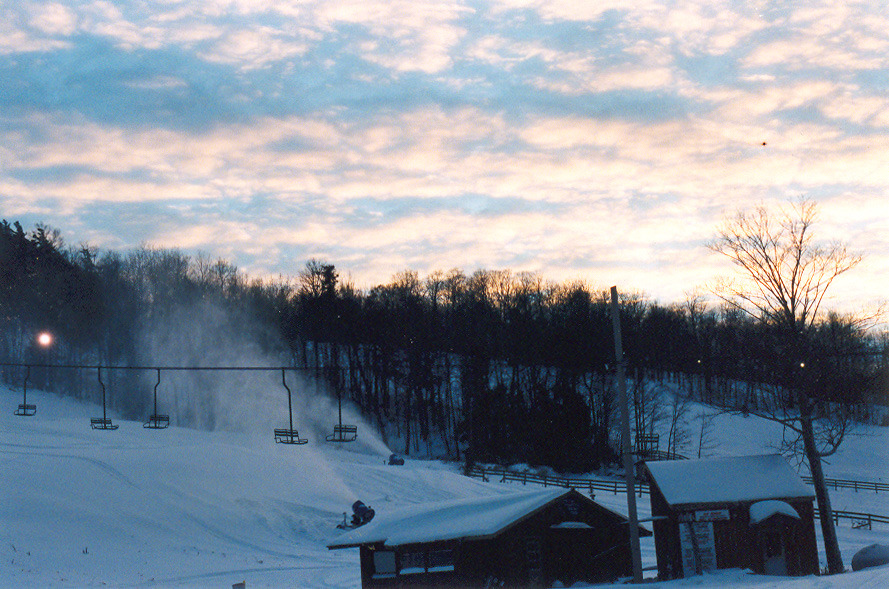 A scenic view up the hill at Marquette Mountain, Michigan