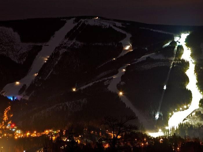 Špindlerův Mlýn - Hromovka - night skiing - ©Špindlerův Mlýn FB