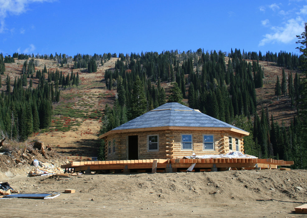 A view of a new lodge being built at Brundage Mountain, Idaho