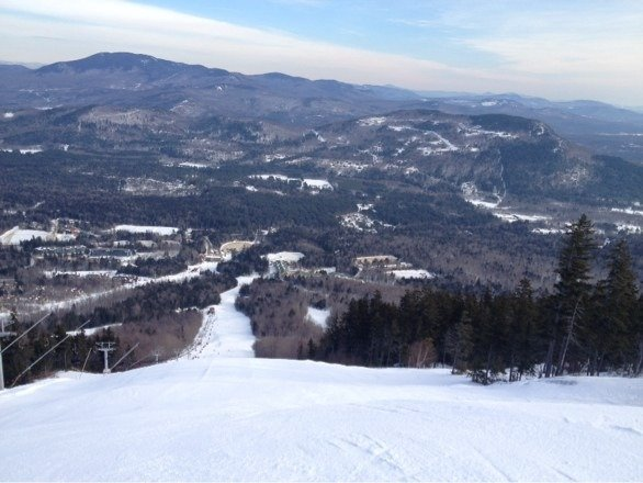 Wonderful ski day today. Excellent conditions. Obsession is my happy place.