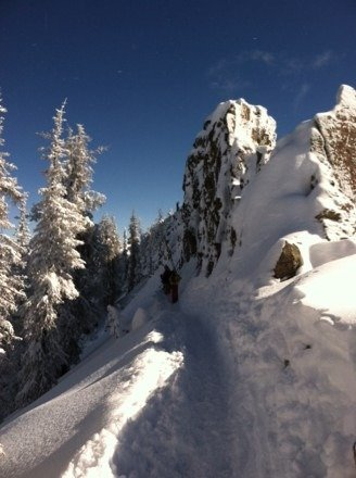 Great conditions today. Untouched snow if you are willing to hike. Worth the drive !