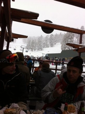Great day yesterday! Snowed all day with everyone watching the Super Bowl lines were non existent