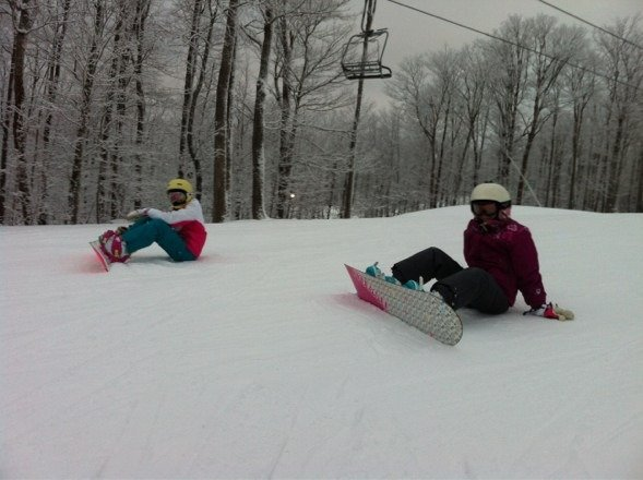 Fun days Sunday to Tuesday. Ski cross course, moguls and glades a lot of fun. Too bad we had to leave before the snow