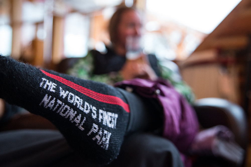 A pair of socks pretty much sums up the skiing at Banff. - ©Liam Doran