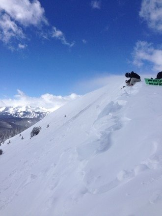 The hike to south bowl was not bad and the powder was incredible!