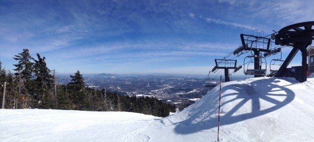 Mid winter conditions, hard, fast.  No hero bumps yet, but plenty of coverage to take Okemo well into April