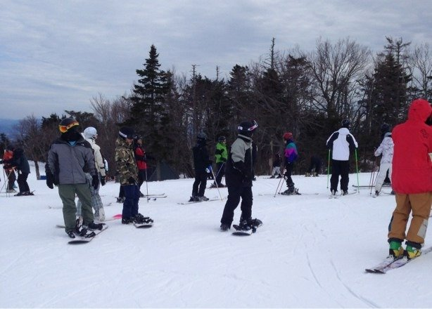 Conditions: Fantastic! Top to bottom Weather: Blue Bird sky's. Warm, sunny Lift Lines: RIDICULOUS !!!!! 40 mins  Sat Mar 8.