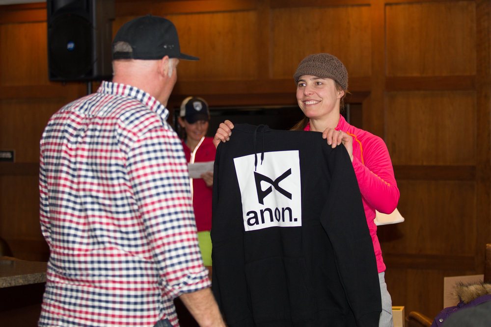 The swag giveaways continue at après ski.  - ©Cody Downard Photography