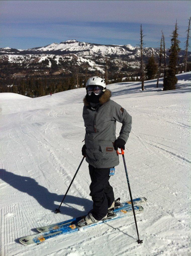 great spring skiing,still plenty of snow considering lack of storms