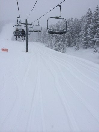 Fresh tracks closing day amazing  Was 30 inches