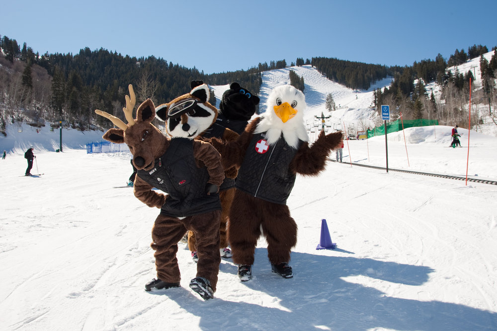 Deer Valley's four mascots. - ©Deer Valley Resort