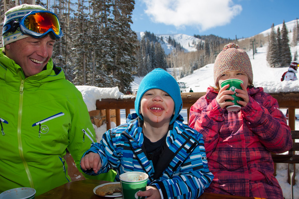 Hot chocolate break, Deer Valley.