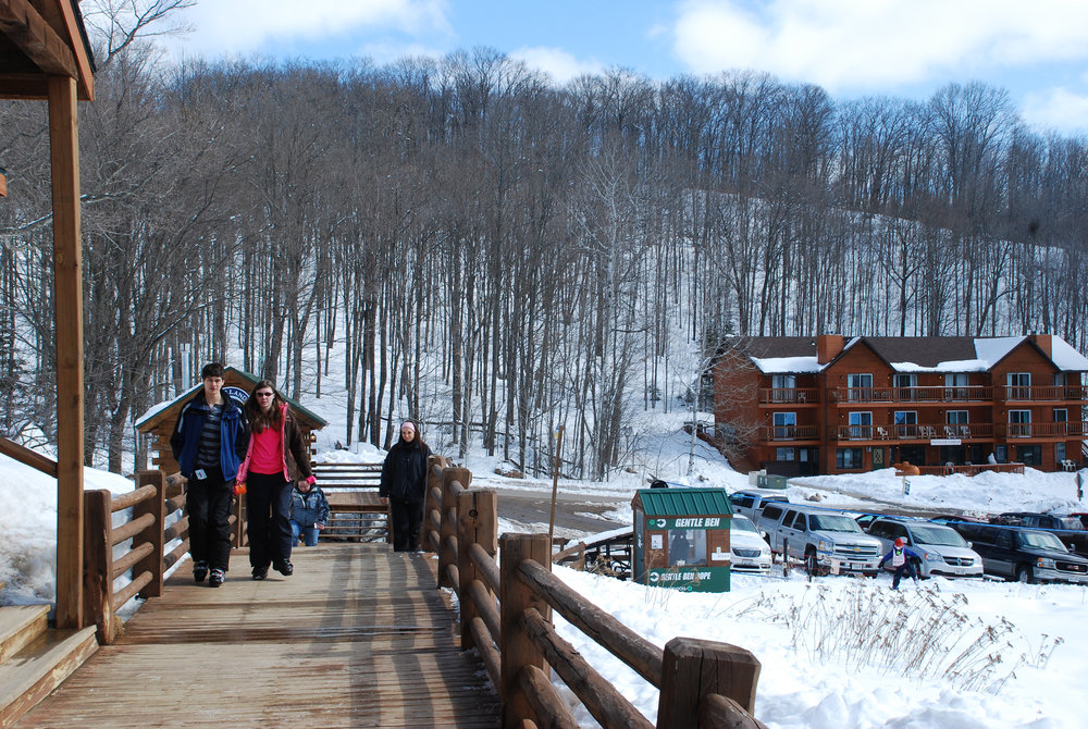 Ski Brule offers excellent accommodations within a short walk of the slopes.