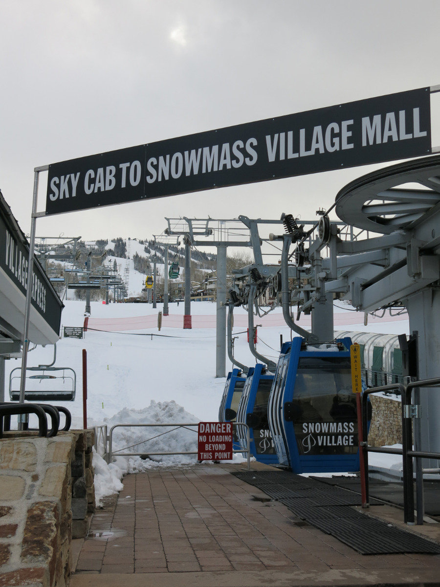 Take the Sky Cab to the Snowmass Mall