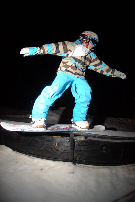 Nose slide at Mad River Mountain, OH