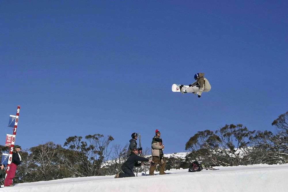 Nathan Johnstone catching air at Perisher AUS