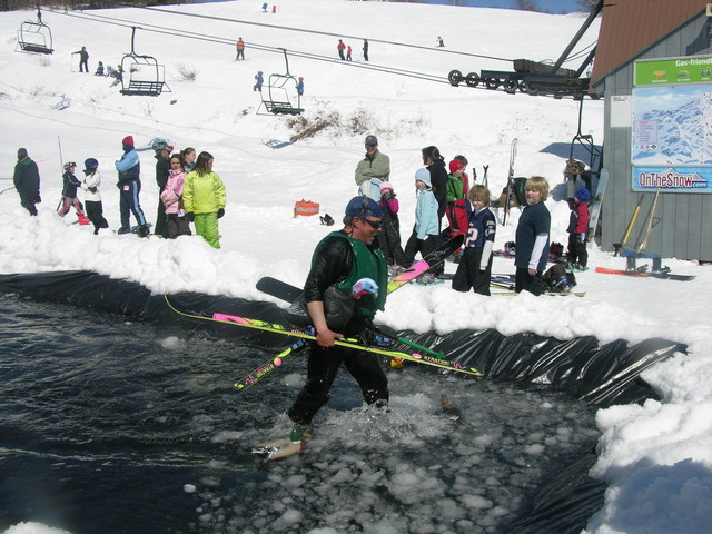 Pond skimming at Black Mountain