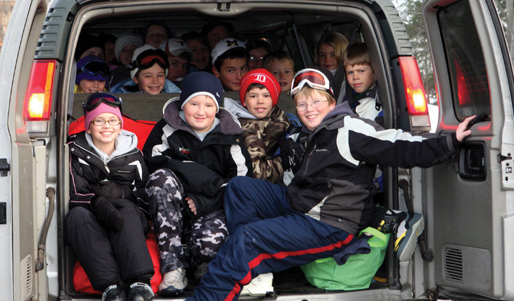 Stuff as many people as you can into one vehicle for $49 lift tickets! - ©Shanty Creek Resorts
