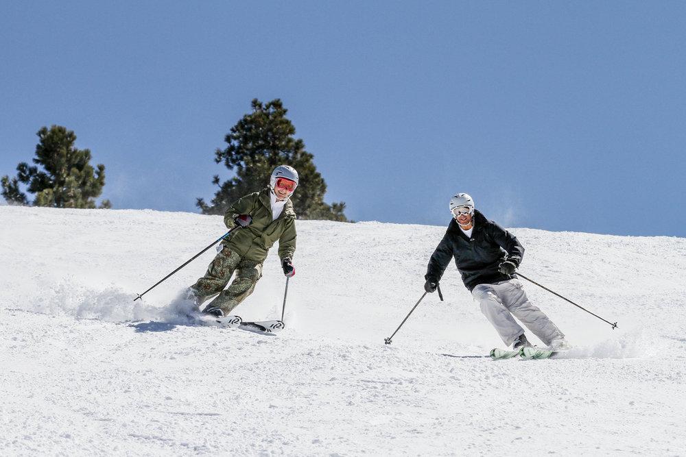 Snow Summit skiing in the San Bernardino Mountains.