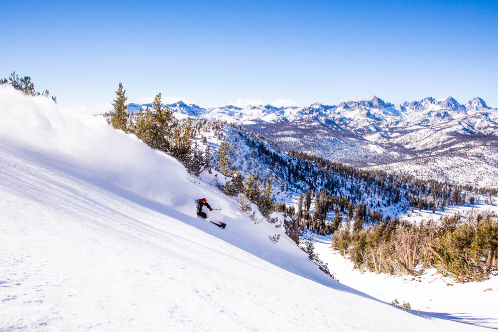 Sunshine on snow at Mammoth Mountain. - ©Peter Morning