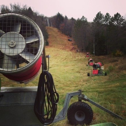Snow machines are out, target opening November 7th!
