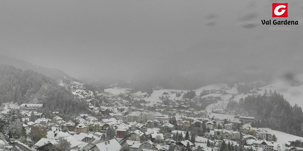 Neve fresca ad Ortisei, 23 Ottobre 2014