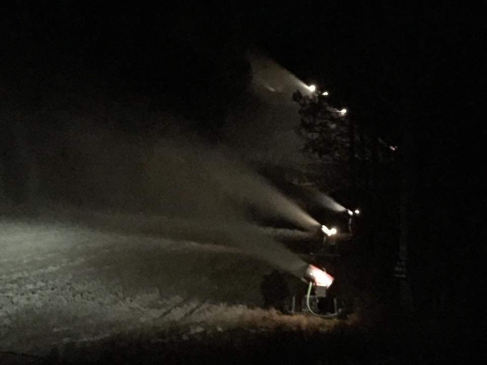 Making Snow At Ski Brule, Iron River, Michigan. Target opening Nov 7 & tickets are free opening day. www.skibrule.com