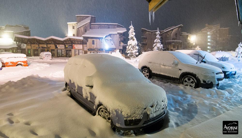 30 cm of fresh snow in Avoriaz (FRA) - Nov 17, 2014 - ©OT Avoriaz
