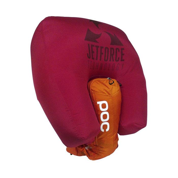 Sac ABS JetForce : Le gonflage de l'airbag ne se fait plus via une cartouche de CO2 mais par un ventilateur qui extrait l'air à partir de l'atmosphère et remplit les 200 litres de la toile. Ce dispositif électronique a l'avantage de se déployer plusieurs fois de suite, un système très utile pour s'entraîner et en cas de seconde avalanche.