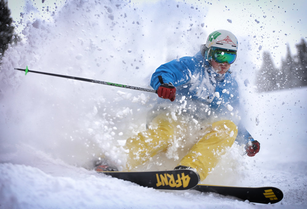 Skier, Palmer Hoyt gettin' the goods of this November storm at Copper.  - ©Tripp Fay, Copper Mountain Resort