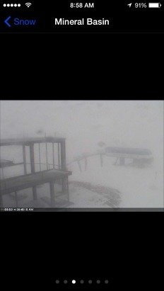 It's dumping right now!! Coming up for the weekend. 9' in the last 12 hours!