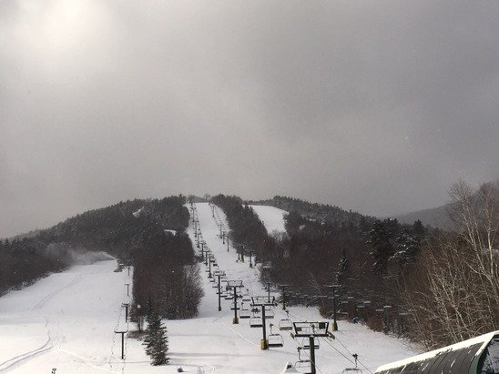 It's a great day out here and the lines to the lifts aren't too long.