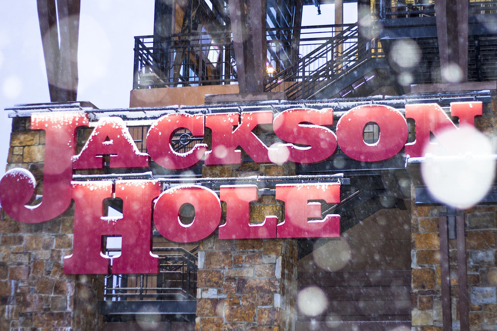 Snow comes down at Jackson Hole.