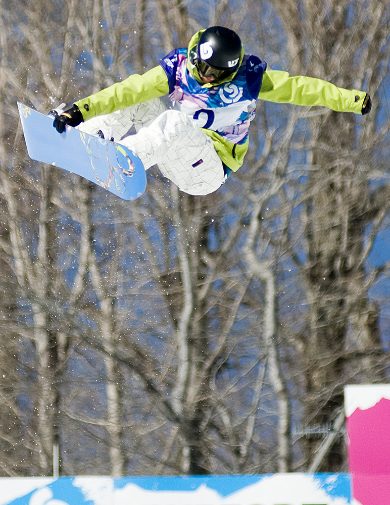 Kelly Clark coming second in Women's Half-pipe, Burton US Open in Stratton