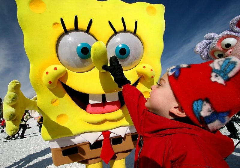 A kids plays with Sponge Bob Square Pants at The Canyons, Utah
