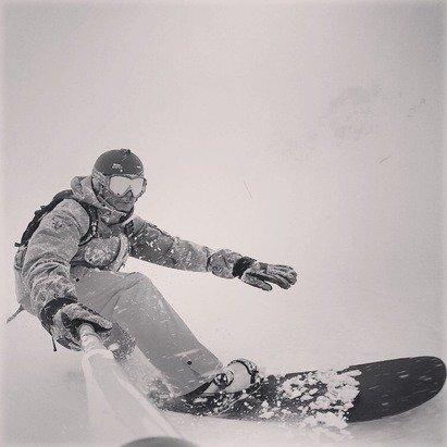 Snowboarder in Silvretta Montafon - ©iPhone 6 van Ed