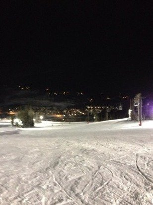 Night skiing