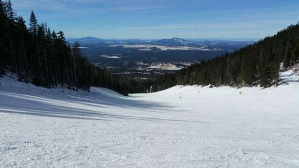 Only open to midway on 1/5. But a good day, not crowded. there are enough runs open to get some variety.
