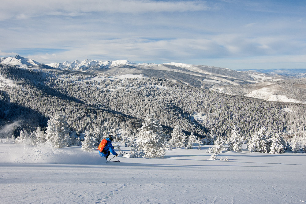 Stunning views and epic snow in Blue Sky Basin. - ©Daniel Milchev / Vail