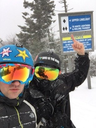 Great day skiing ... No crowds and a couple inches of fresh powder