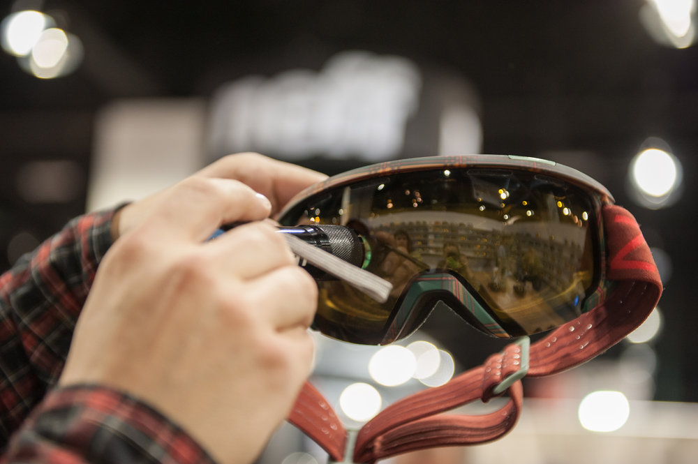 Zeal Optics' new polarized, auto plus goggle starts at yellow and changes to brown.   - ©Ashleigh Miller Photography