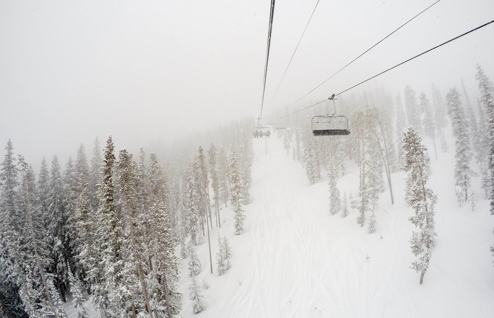 Up and away on a wintry day. - ©Winter Park Resort
