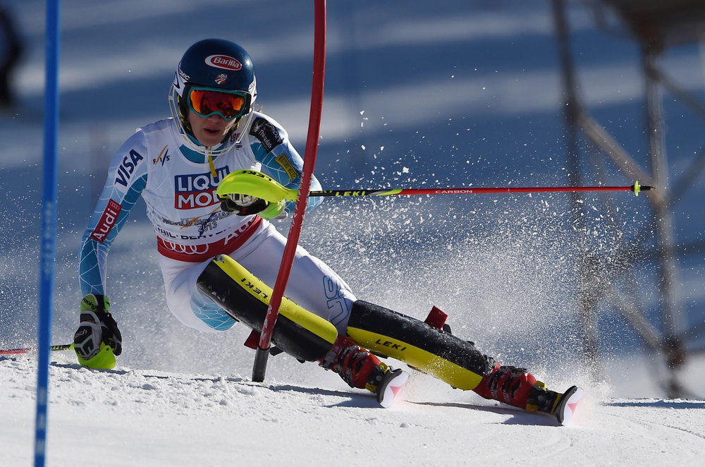 Mikaela Shiffrin (USA) holte Gold im Slalom - ©Audi Media-Service